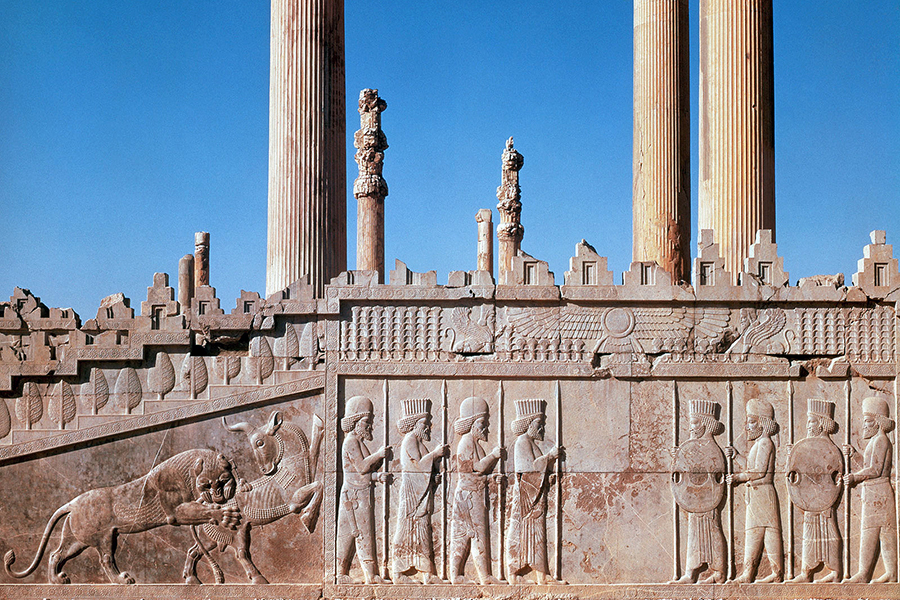 ca. 5th century B.C. --- Apadana in Persepolis: Grand Staircase --- Image by © Gianni Dagli Orti/CORBIS