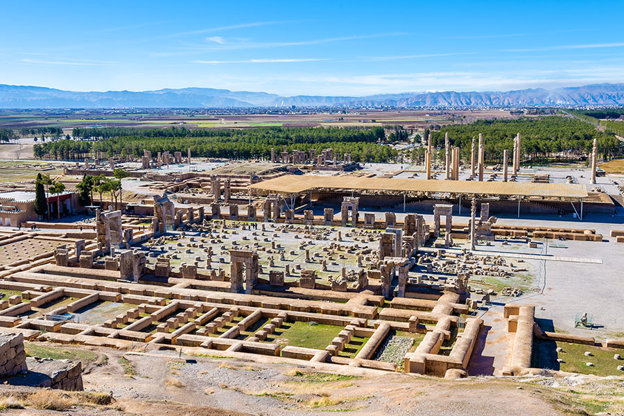 View of Persepolis, the capital of the Achaemenid Empire - Iran